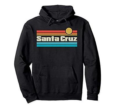 Santa Cruz California Retro Hoodie, Unisex