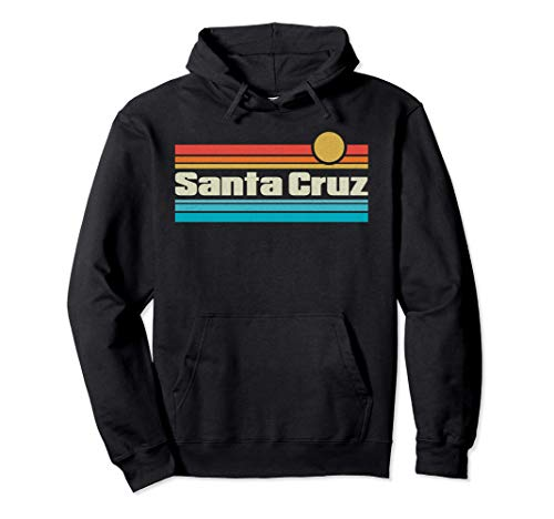 70er 80er CA Retro Retro Sunset Santa Cruz Pullover Hoodie