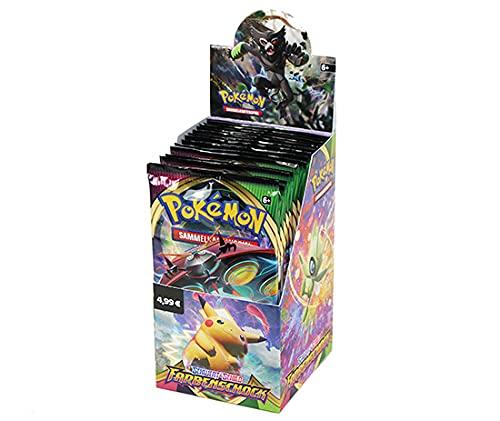 Pokemon Schwert & Schild - Farbenschock - 1x Display je 18 Booster - Deutsch zusätzlich 1 x Sticker-und-co Fruchtmix Bonbon