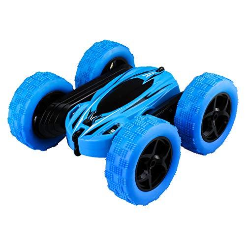 Edeco SGILE Juguete de Regalo para niños de 6-12 años - 360 ° tirón de Control Remoto Stunt Car Truck, 4WD 2.4Ghz Vehículo de Alta Velocidad para Niños Niñas, Verde,Azul