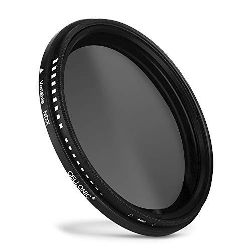 CELLONIC® Einstellbarer Neutraldichte Filter ND2-400 kompatibel mit Panasonic Lumix G Vario Ø 52mm Graufilter, Langzeitbelichtung