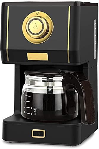 Máquina de café con cafetera de vidrio retro con filtro de café reutilizable y tres modos de elaboración de 30 minutos de conservación del calor