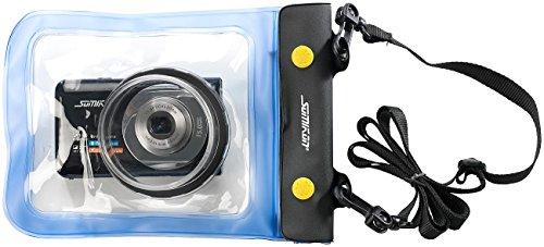Somikon Wasserschutz Kamera: Unterwasser-Kameratasche XL mit Objektivführung Ø 55 mm (Unterwasser Kameragehäuse)