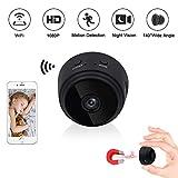 Mini Caméra WiFi LXMIMI Caméra Cachée 1080P HD Caméra Espion Portable sans Fil Caméra de Surveillance avec Vision Nocturne et Détection de Mouvement Caméra IP WiFi pour iPhone/ Android/ iPad