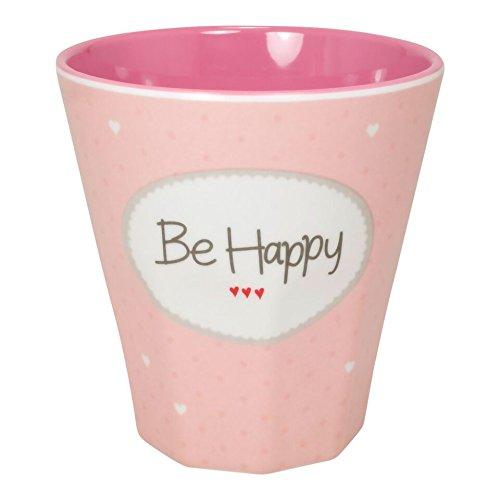 'Mea de Living melamina vasos pequeños Be Happy Color Rosa
