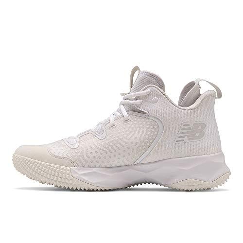 New Balance Men's Freeze LX V3 Turf Lacrosse Shoe, White/Grey, 10