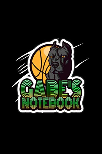 Gabe's Personalized Basketball Notebook with Dog: (6 x 9 inches with 120 lined pages) Great gift for the Basketball lover in your life named: Gabe