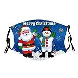 duquanxinquan Mundschutz mit Weihnachtsmann Motiv Christmas Face Schal Verstellbar Ohrschlaufen Wiederverwendbar Staubdichte Waschbar Mund_ und Nasenschutz_