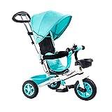 Triciclos Bebes 1 Año,4 en 1 Niños Triciclo De Rueda Bicic