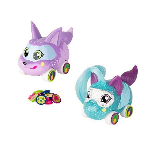 Ritzy Rollerz Lindo Coleccionable Animal Niña Coches de Juguete con Encanto Sorpresa, Trenza Francesa y Donut Dani Besties, Juego de niñas para niñas de 4 5 6 7 8 años