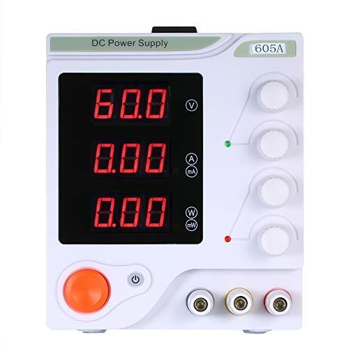 KKmoon Labornetzgerät 0-60V, 0-5A Geregeltes DC Netzteil Schaltnetzteil LED Anzeige 3-stellige Anzeige Hochpräzises, einstellbares Mini-Netzteil Gleichstromquelle