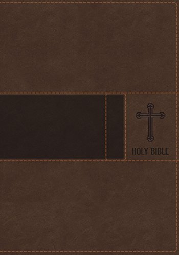 NIV, Gift Bible, Leathersoft, Brown, Red Letter Edition