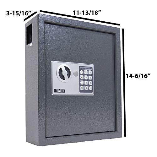 DuraBox 40 Keys Steel Safe Cabinet with Digital Lock - Electronic Key Safe with Drop Slot for Key Returns and Safe Storage (Dark Grey) Photo #2
