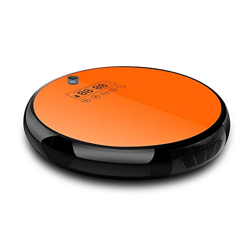 Great Price! JPJQRXCQ Robotic Vacuum Cleaner with Powerful Suction Anti Drop Collision Sensor Self C...