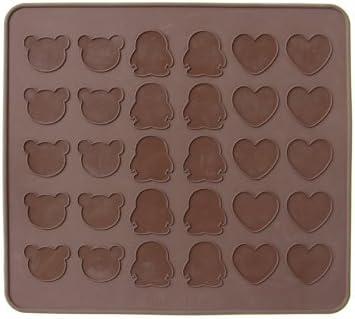Sales Bear Penguin Heart Silicone Mat Fondant 30 Jelly Holes Fashion Macarons