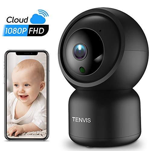 TENVIS WLAN IP Kamera 1080P HD Überwachungskamera mit Nachtsicht-Bewegungserkennung, Home und Baby Monitor mit 2 Wege Audio,Unterstützt Fernalarm Mobile App Kontrolle