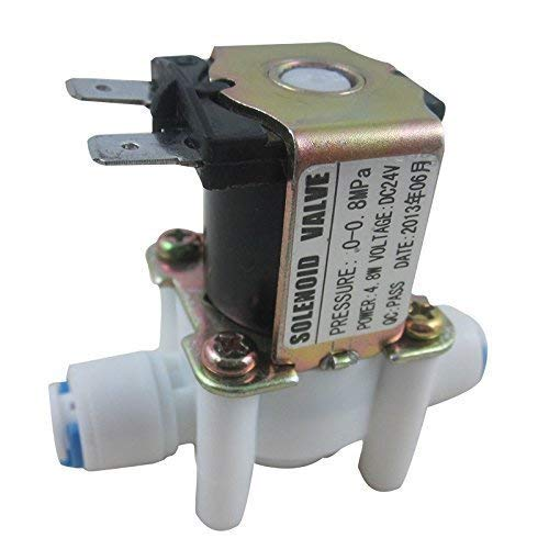 DIGITEN 24V 1/4 Water Solenoid Valve Inlet Feed Normally Closed N/C Quick Connect for RO Reverse Osmosis Pure System