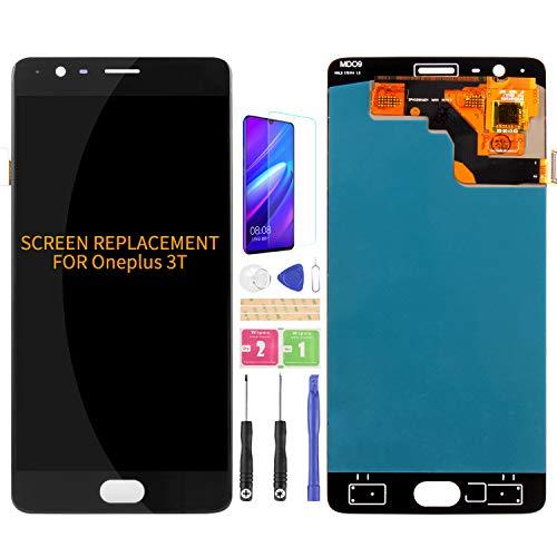 Compatible con Oneplus 3T A3010 pantalla de repuesto OLED LCD Display One Plus 3 A3003 A3000 SM-A3000 Touch digitalizador kits de sensor (OLED negro sin marco)