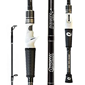"""Enigma Fishing IPPON Pro Tournament Series Bass Fishing Rods, Japanese Torray Graphite High Modulus 1 Pc Blanks, Alps Guides & Reel Seats, Enigma """"E"""" Grips, 10 Lengths & Actions - Casting Rod"""