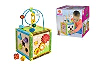 Wooden activity cubes are a sensory delight for tiny tots! Enjoy watching your child have countless hours of fun switching between the maze, abacus and sorting blocks. A brilliant way for you and your child to enjoy fun playtime together. A totally t...
