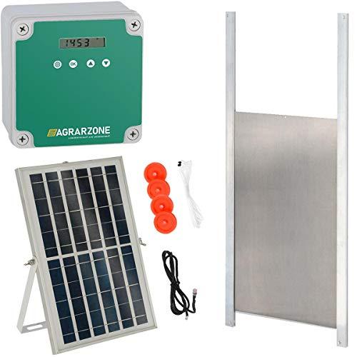 Agrarzone automatische Hühnerklappe Solar mit Schieber 30 x 40 cm