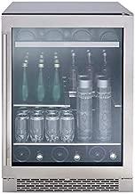 Zephyr PRB24C01BG Presrv Series 24 Inch Stainless Steel Freestanding or Built In Beverage Center 13 bottles, 84 12 oz cans