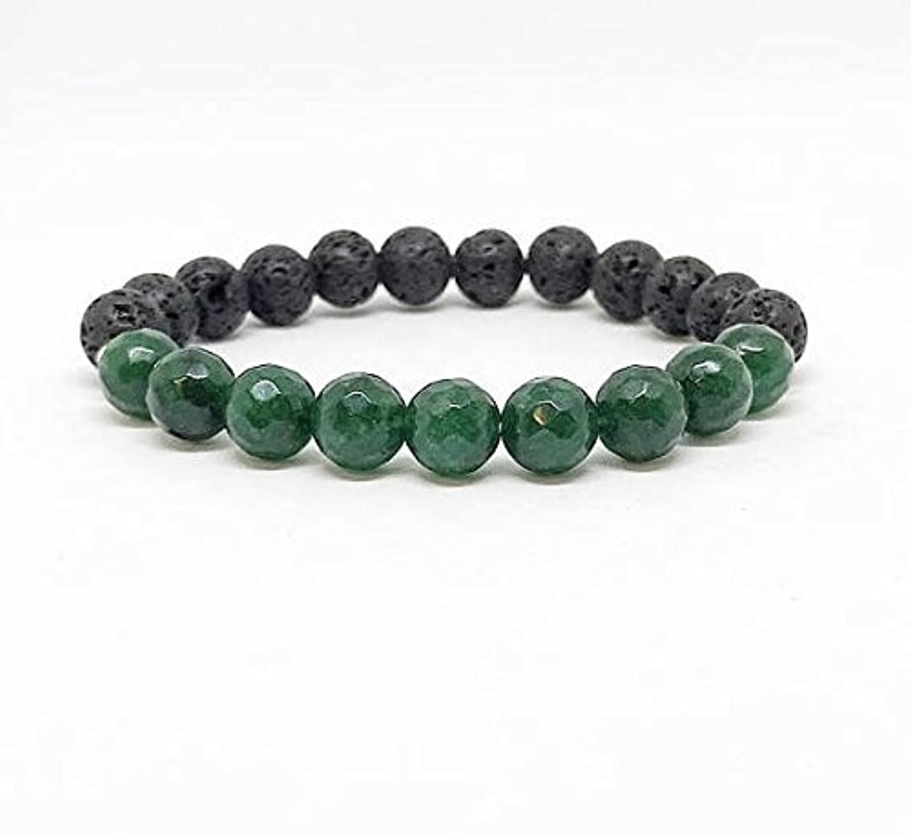 Emerald Jade, May Birthstone Lava Rock Diffuser Bracelet, Unique Gifts, Essential Oil Accessories, Gemstone Bracelet, Lava Stones, Oil Diffuser