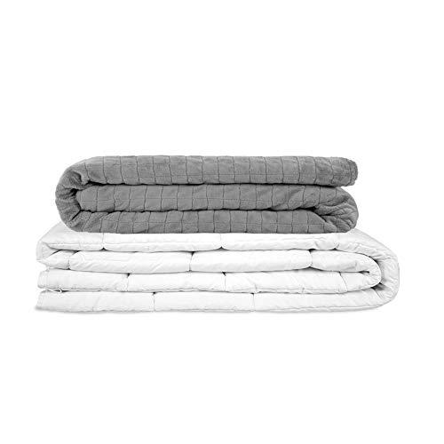 GRAVITY TherapieDecke Gewichtsdecke - Schwere Decke für Erwachsene/Jugendliche Für besseren Schlaf, Größe: 135x200 cm, 6 kg