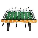 JJSFJH Tabla de Foosball Table Top Football futbolín de Mesa Juegos for niños, tamaño Mini Juego de fútbol Conjunto con Marco de Madera (4 pies de fútbol de Mesa)
