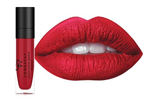 Golden Rose Long Wearing LONGSTAY Liquid Matte Lipstick, 09-Really Red