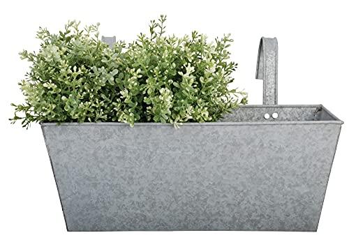Esschert Design Old Zinc Rectangular Balcony Flower Planter