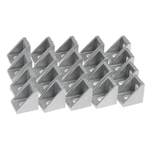 ACAMPTAR 20 Stücke 2020 Ecke Fitting Angle Aluminium 20 X 20 L Verbindungs Elemente Halterung Verbindungs Elemente Verwendung 2020 Industrielles Aluminium Profil