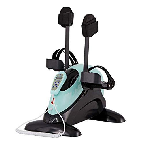 Pedal motorizado pierna y el brazo ejercitador Mini bici de ejercicio con soporte de protección for las piernas - Pedal eléctrico ejercitador for la tercera edad, discapacitados, personas de movilidad