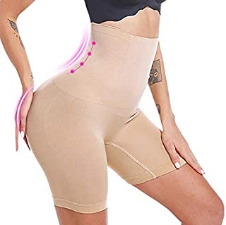 Davina Fashions® Women's High Waist Heavy-Shapewear with Anti Rolling Strip Tummy Control Tucker (Free-Size) (Best Fits Up...