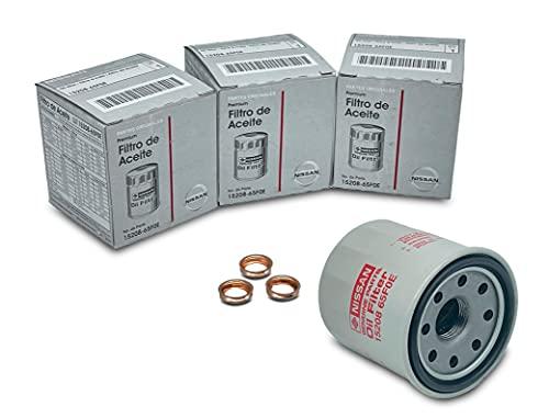 SET 3 PCS NEW Genuine OEM Engine Oil Filter 15208-65F0E + Drain Plug 4STEED MOTORS 11026-JA00A FIT FOR NISSAN / INFINITI