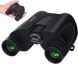 Binoculars,10 X 25 Portable Pocket Folding Binoculars Compact Low Light Night Vision Large Eyepiece High Power Waterproof Binoculars for Adults Kids Travelling Sightseeing and Outdoor Activities