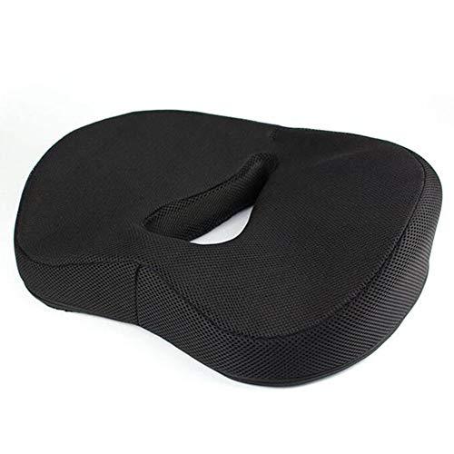 SRMTS Donut Pillow Hemorrhoid Seat Cushion Tailbone Coccyx Orthopedic Medical Seat Prostate Chair Cushion for Hemorrhoids Memory Foam,Black