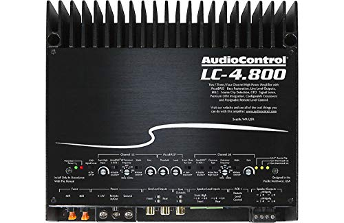 For Sale! AudioControl LC-4.800 High-Power 4 Channel DSP Matrix Amplifier with Accubass & ACR-1 Dash Remote