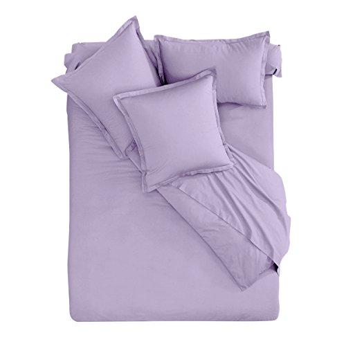 I Fil Home Parure de lit 100% Coton 57 Fils Violet 260 x 240 cm