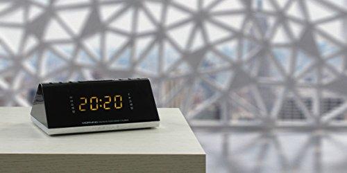 NAF NAF MORNING V3 - Radio réveil avec port USB chargeur, 2 alarmes ultra compact