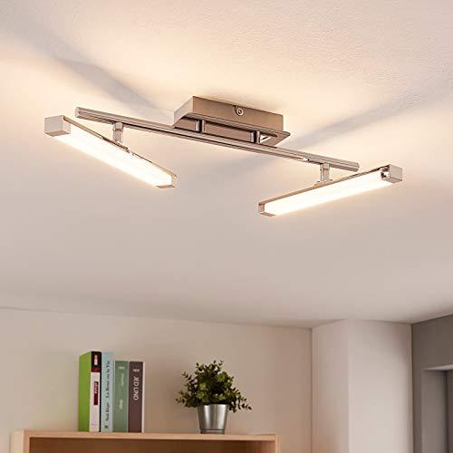 Lindby LED Deckenleuchte 'Pilou' dimmbar (Modern) in Chrom aus Metall u.a. für Küche (2 flammig, A+, inkl. Leuchtmittel) - Lampe, LED-Deckenlampe, Deckenlampe, Küchenleuchte