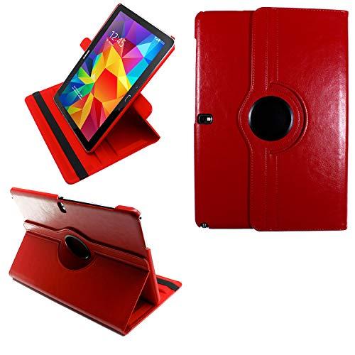COOVY® 2.0 Cover für Samsung Galaxy Note PRO 12.2 SM-P900 SM-P901 SM-P905 Rotation 360° Smart Hülle Tasche Etui Hülle Schutz Ständer | rot