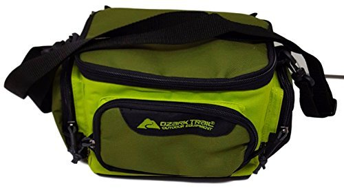 Ozark Trail Green Soft-Sided Fishing Tackle Storage Bag with 3 Utility Boxes 11x7x6.25