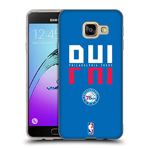 Head Case Designs Ufficiale NBA Tipografia 2019/20 Philadelphia 76ers Cover in Morbido Gel Compatibile con Samsung Galaxy A3 (2016)