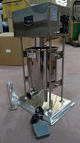 EISEN embutidora electrica Pedal rellenadora Maquina enchidos Embutidos chorizos Salchichas (10 litros)