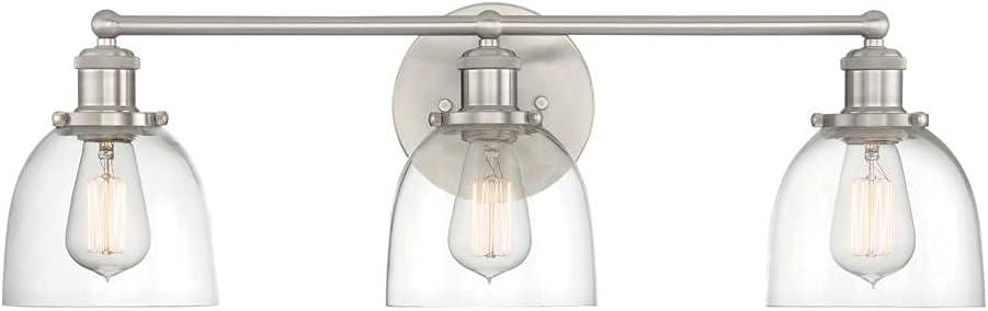 Evelyn 3-Light Brushed Nickel Vanity Light