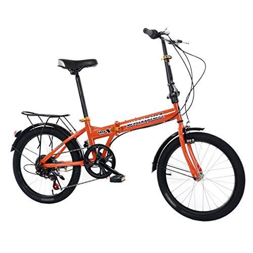 TYXTYX 20 Zoll Alu Klapp Fahrrad Faltrad Folding Bike 5 Gang Nabendynamo mit Gepäckträger Klappfahrrad Folding Bike