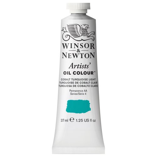 Winsor & Newton Artists Oil Colour Paint, 37-ml Tube, Cobalt Turquoise Light