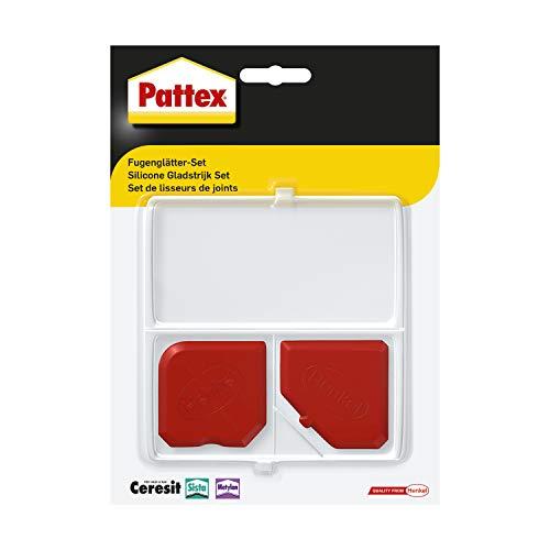 Pattex Fugenglätter Set, 9 Fugenspachtel zum professionellen Glätten dauerelastischer Fugen, leicht zu reinigendes Glätte- & Modellierwerkzeug, 1 Set inkl. Aufbewahrungsbox