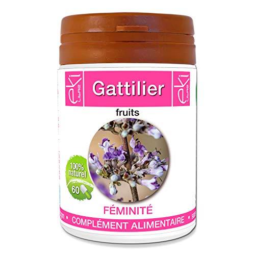 Gattilier | 60 gélules | Beauté De La Peau - Féminité | 270 mg dosage 100% naturel sans additif et non comprimé | EKI LIBRE